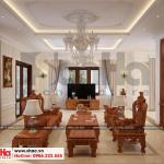5 Thiết kế nội thất phòng khách biệt thự tân cổ điển đẹp tại hà nội sh btp 0132