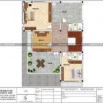 6 Mặt bằng công năng tầng 3 biệt thự hiện đại đẹp tại quảng ninh sh btd 0070