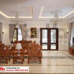 6 Mẫu nội thất phòng khách biệt thự tân cổ điển 3 tầng tại hà nội sh btp 0132