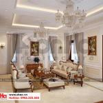 7 Thiết kế nội thất phòng khách biệt thự tân cổ điển mặt tiền 10m tại hà nội sh btp 0132