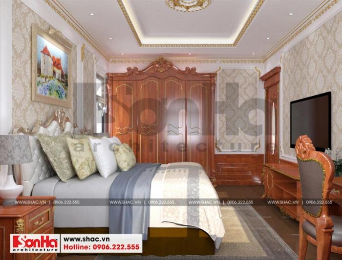 Thiết kế nội thất phòng ngủ phong cách tân cổ điển nhẹ nhàng và sang trọng