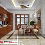 8 Mẫu nội thất phòng bếp ăn biệt thự tân cổ điển đẹp tại hà nội sh btp 0132