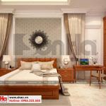 9 Thiết kế nội thất phòng ngủ 1 biệt thự tân cổ điển 3 tầng tại hà nội sh btp 0132
