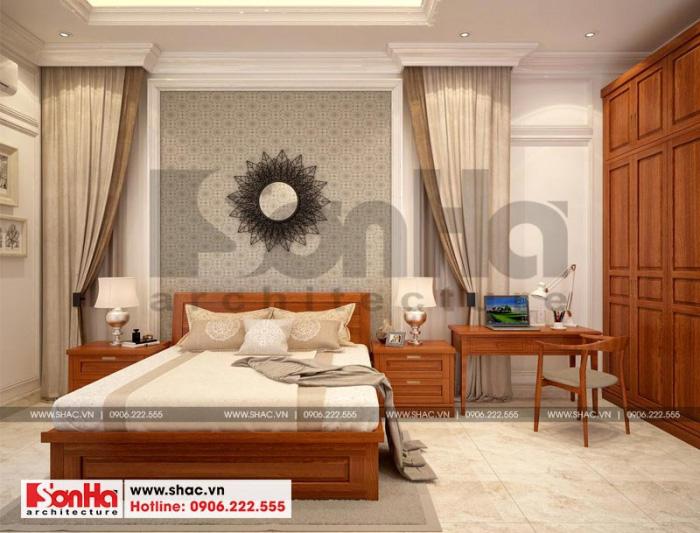 Thiết kế nội thất phòng ngủ phong cách tân cổ điển cho biệt thự sang trọng