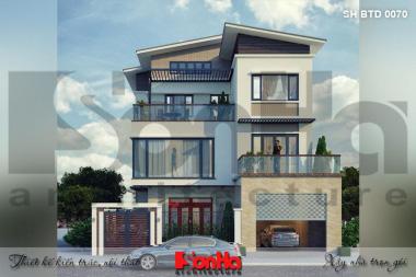 BÌA thiết kế biệt thự hiện đại 3 tầng đẹp tại quảng ninh sh btd 0070
