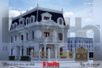 BÌA Thiết kế biệt thự tân cổ điển 3 tầng mặt tiền 10m tại hà nội sh btp 0132
