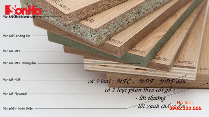 Các loại gỗ công nghiệp nào nên dùng trong thiết kế nội thất nhà ở dân dụng?
