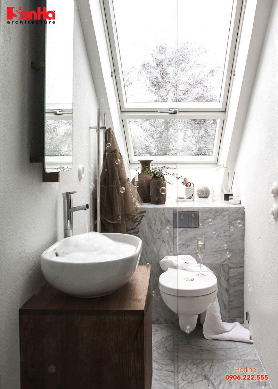 Diện tích phòng tắm tối thiểu được tính toán và quy định là 2m2