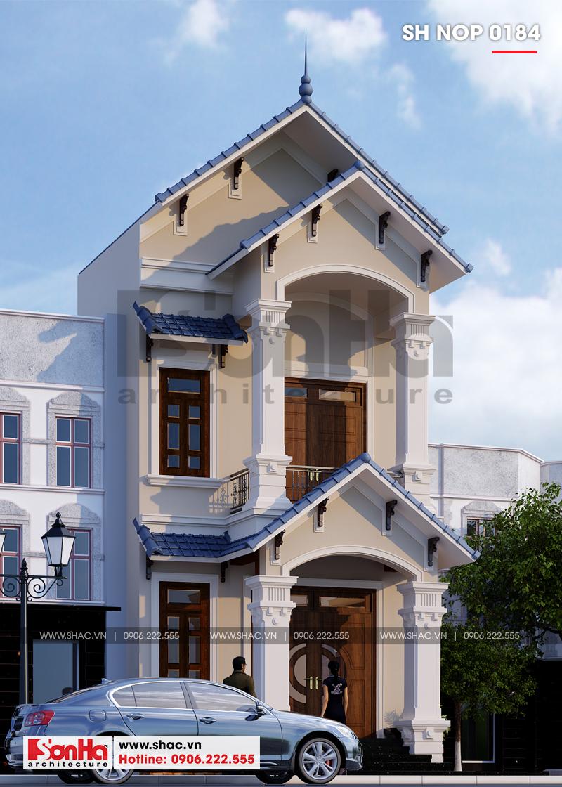 Mẫu thiết kế nhà ống đẹp 2 tầng phong cách tân cổ điển tại Phú Thọ