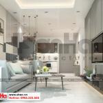 1 Thiết kế nội thất phòng khách bếp căn hộ chung cư wilton tower sài gòn