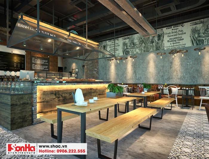 Không gian nội thất tiệm bánh cafe tại TT TM Vinhomes Imperia nổi bật cá tính