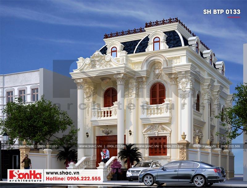 Biệt thự kiểu Pháp 2 tầng 1 tum diện tích 156m2 tại Hải Phòng – SH BTP 0133 2