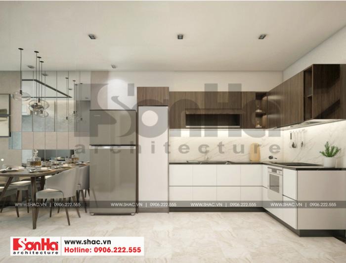 Cận cảnh cách bố trí và thiết kế bếp căn hộ chung cư 63m2 phong cách hiện đại