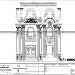6 Mặt đứng trục 1 5 biệt thự cổ điển tại hải phòng sh btp 0133
