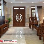 6 Mẫu nội thất phòng khách nhà ống tân cổ điển 2 tầng tại phú thọ sh nop 0184