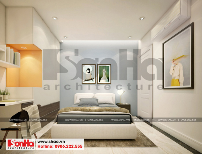 Thêm một phương án thiết kế nội thất phòng ngủ hiện đại với màu sắc đẹp