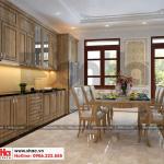 8 Mẫu nội thất phòng bếp nhà ống tân cổ điển tại phú thọ sh nop 0184