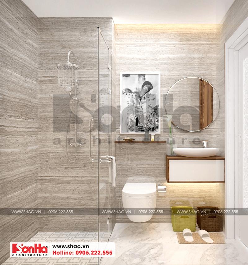 Phòng tắm và vệ sinh được thiết kế tỉ mỉ với phương châm đẹp và tiện lợi