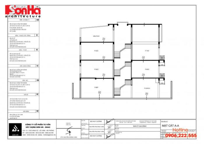 Bản vẽ hồ sơ xin cấp phép xây dựng nhà ở biệt thự nhà phố của SHAC (10)