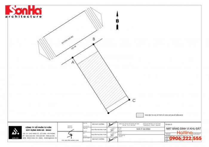 Bản vẽ hồ sơ xin cấp phép xây dựng nhà ở biệt thự nhà phố của SHAC (3)