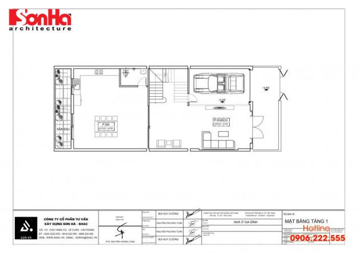 Bản vẽ hồ sơ xin cấp phép xây dựng nhà ở biệt thự nhà phố của SHAC (4)