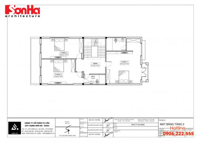 Bản vẽ hồ sơ xin cấp phép xây dựng nhà ở biệt thự nhà phố của SHAC (5)