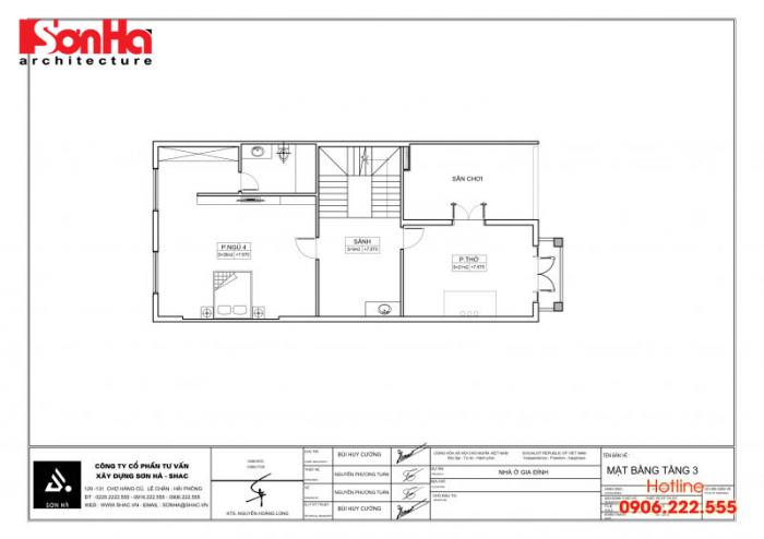 Bản vẽ hồ sơ xin cấp phép xây dựng nhà ở biệt thự nhà phố của SHAC (6)