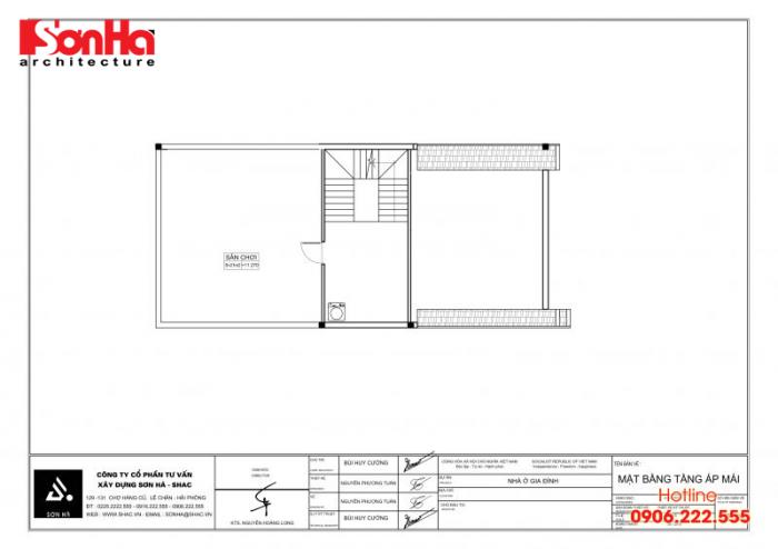 Bản vẽ hồ sơ xin cấp phép xây dựng nhà ở biệt thự nhà phố của SHAC (7)