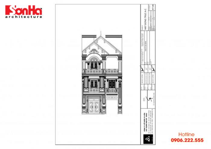 Bản vẽ hồ sơ xin cấp phép xây dựng nhà ở biệt thự nhà phố của SHAC (9)