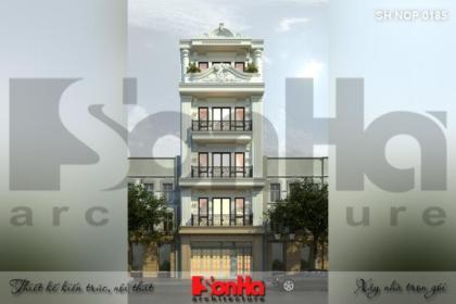 BÌA thiết kế nhà ống kiến trúc pháp 5 tầng mặt tiền 6,5m tại hải phòng sh nop 0185