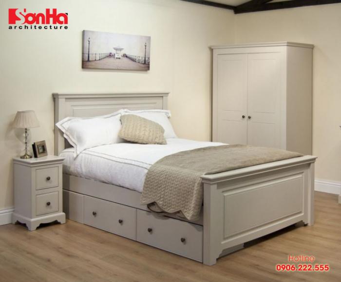 Giường ngủ full – size có kích thước 1,4m chiều rộng và 1,95m chiều dài