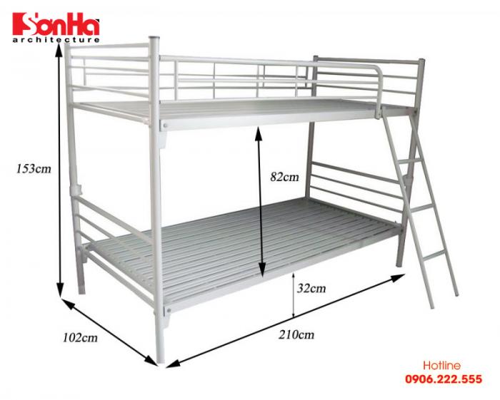 Giường tầng là loại giường thường có kích thước như kiểu giường đơn