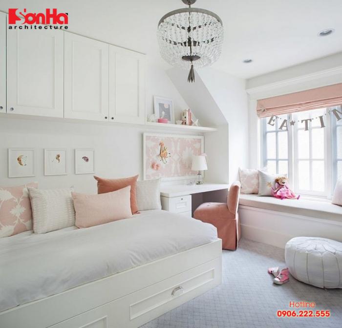 Ngây ngất với phương án thiết kế phòng ngủ đẹp trang trí màu Pastel
