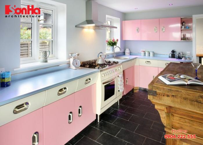 Những mẫu phòng bếp đẹp nhờ sử dụng gam màu pastel tinh tế ấn tượng