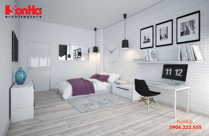 Thêm một ý tưởng thiết kế phòng ngủ hiện đại sử dụng gam màu pastel