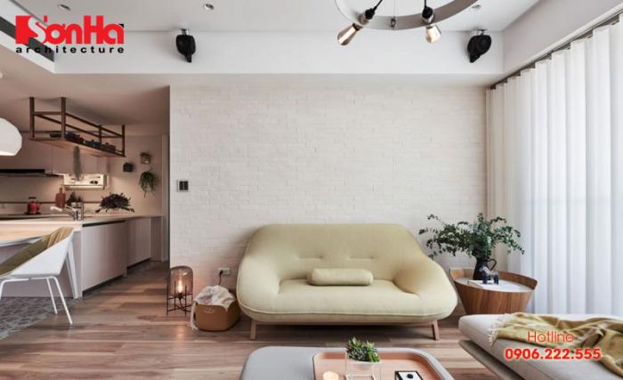 Thiết kế nội thất căn hộ chung cư với gam màu pastel dịu mắt ấm áp