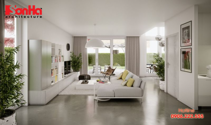 Thiết kế phòng khách với gam màu Pastel là xu hướng được yêu thích hiện nay