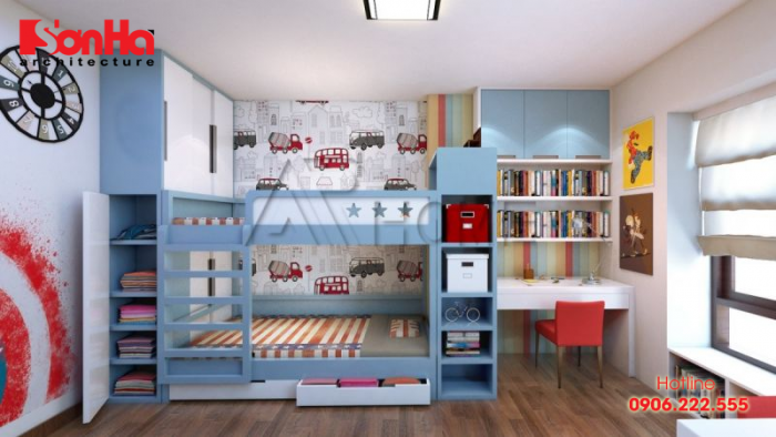 Thiết kế phòng ngủ trẻ em cần lưu ý những vấn đề về an toàn, vật dụng và bố trí