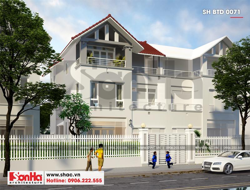 Mẫu thiết kế biệt thự hiện đại 3 tầng diện tích 180m2