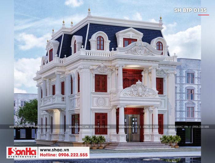 Thiết kế biệt thự cổ điển sang đẹp được xem xét tuổi kỹ càng trước khởi công