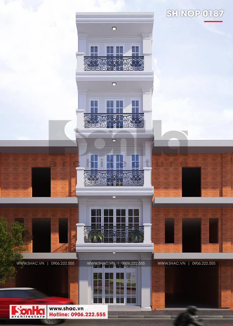 Mẫu nhà ống tân cổ điển 5 tầng mặt tiền 4m45 đẹp và khang trang tọa lạc quận Hồng Bàng – Hải Phòng với diện mạo kiêu kỳ, vững chãi nhất