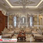 1 Thiết kế nội thất phòng khách biệt thự lâu đài tại gia lai