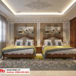 10 Mẫu nội thất phòng ngủ 3 biệt thự kiểu pháp tại ninh bình sh btp 0134