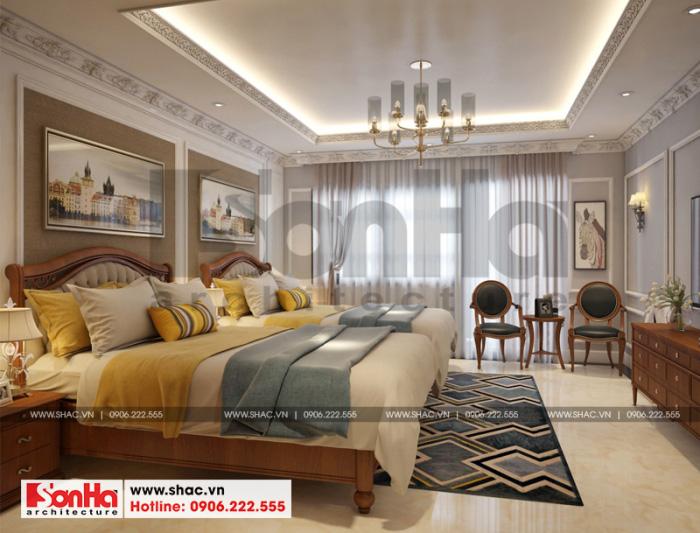 Diện tích rộng và cách trang trí đẹp mắt làm nên thành công của mẫu phòng ngủ này