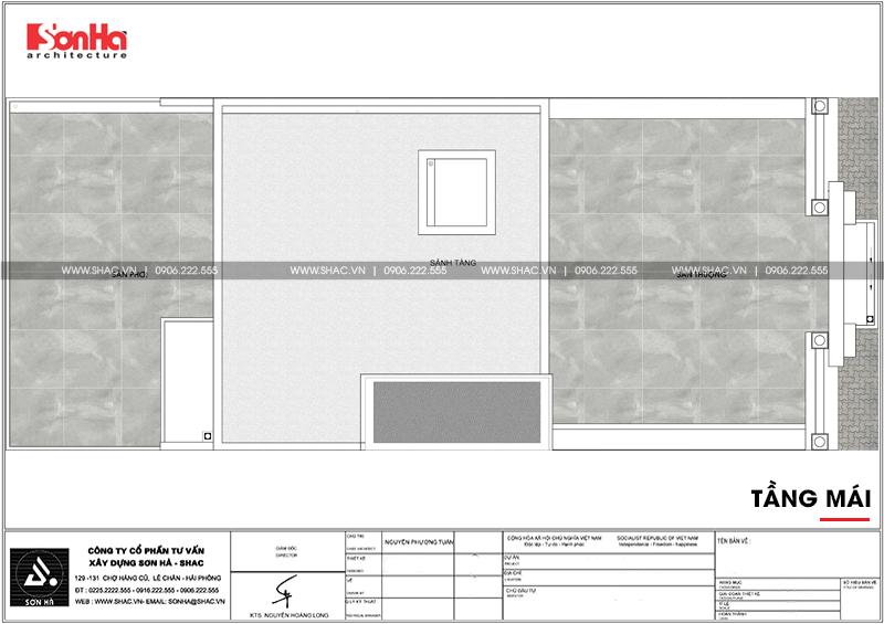 Mẫu thiết kế biệt thự kiểu Pháp 5 tầng có tầng hầm tại Ninh Bình – SH BTP 0134 12