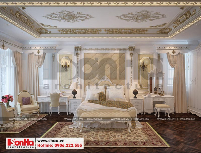 Đây cũng là một trong những phòng ngủ đẹp được yêu thích nhất của biệt thự