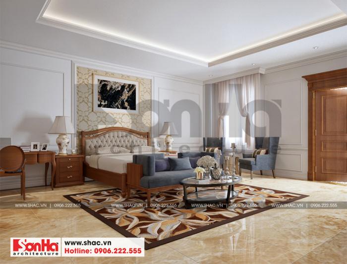 Thêm phương án thiết kế phòng ngủ đẹp cho ngôi biệt thự Pháp tại Ninh Bình