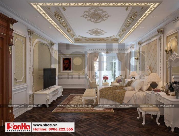 Màu sắc trong các thiết kế nội thất phòng ngủ được sử dụng xuyên suốt thông nhất