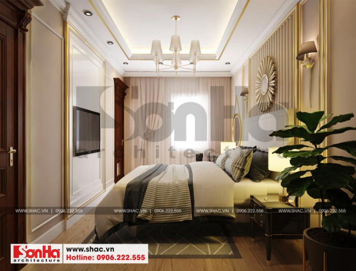 Mẫu thiết kế phòng ngủ với nội thất tân cổ điển kiểu dáng sang trọng và độc đáo