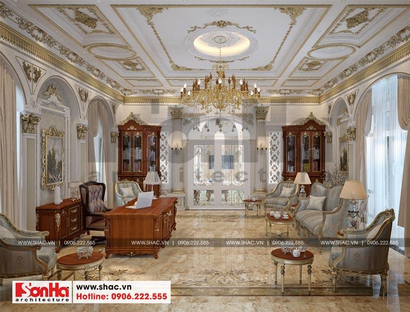 Thiết kế nội thất biệt thự lâu đài xa hoa bậc nhất phố núi Pleiku (Gia Lai) 11